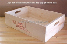 OEM wooden rectangular planter box