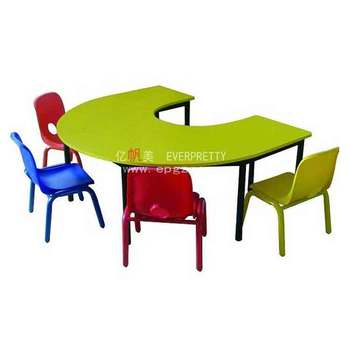 Colorful U Shaped Kindergarten Furniture Desk And Chair Set , Kids  Classroom Tables Design