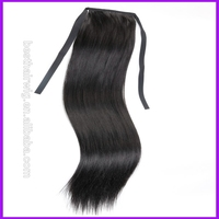 hot selling natural black cheap ponytail hair extension ,high quality no tangle no shed synthetic hair ponytail,