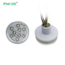CE, RoHS smd 5050 rgb multicolor round pixel led 45mm 9leds