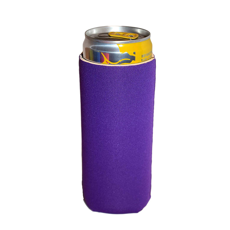 Collapsible Blank Neoprene Slim Beer Can Cooler 12oz Slim Can Holder