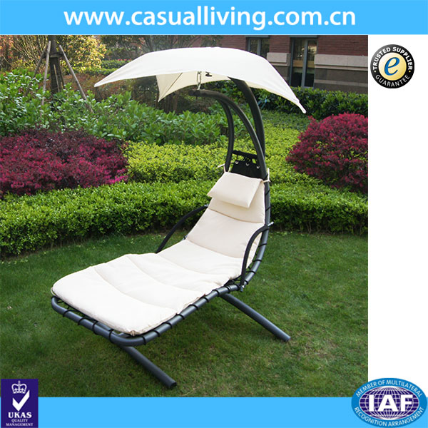 Original outdoor hanging chaise lounger with canopy hammock chair lounger