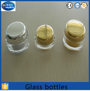 Different shape cheap 5 gallon glass jars for skin care