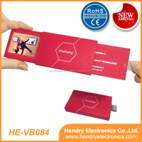 "2.4""LCD Blank Video Brochure with 128MB memory"