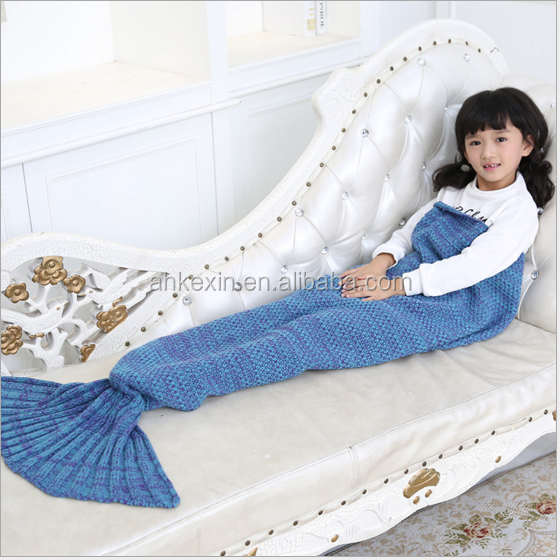 2017 different colors best sale warm comfortable mermaid tail blanket for kids