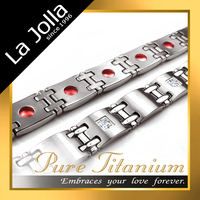 Top Sale 4 in 1 Bio Titanium Magnetic Germanium Health Bracelet