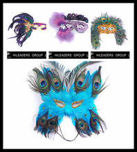 Wholesale Masquerade Feather Mask