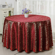 "120"" wholesale luxury damask polyester wedding banquet table linens"