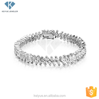 Big Sale fashion white style 14k gold evil eye jewelry bracelet men
