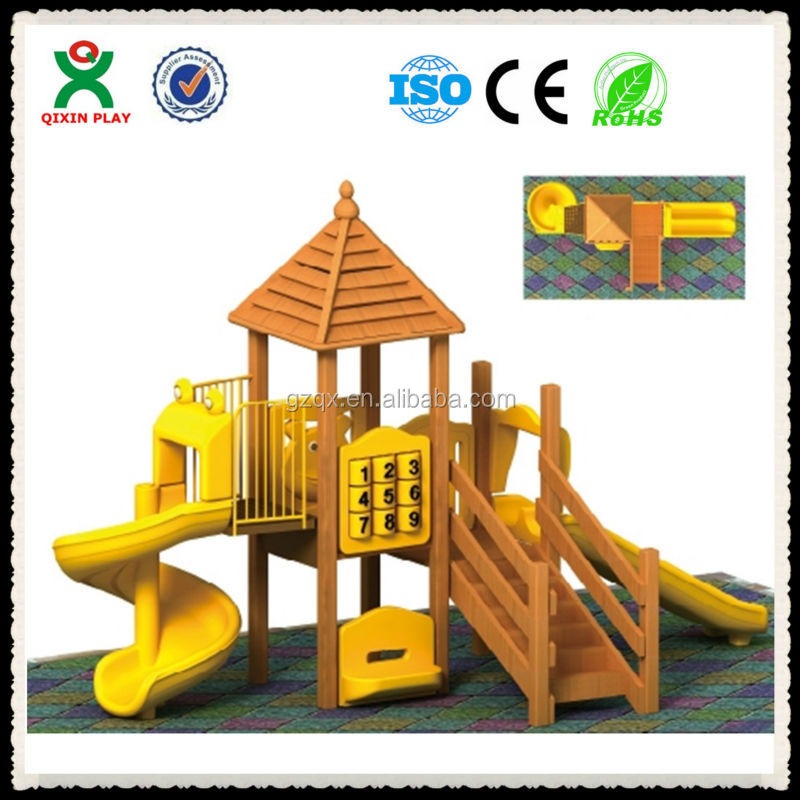 Outdoor wooden games/ childrens wooden playsets/ backyard wooden playsets QX-074B