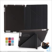 Special design for iPad case,Transform PU Stand Leather Case for iPad 4/3/2