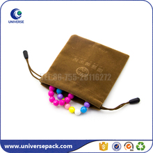 Custom Made Small Drawstring Velvet Embossing Pouch For Jewelry