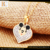 stainless jewelry heart shape movie star mouse jewelry set with clasp thin gold chain