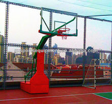 Electric hydraulic basketball stand/system