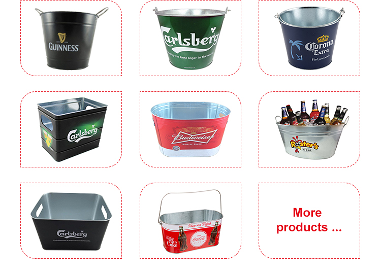 Food grade 10L black ps custom champion wine beer double wall plastic ice bucket with lid