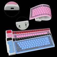 Colorful Silicone Bluetooth keyboard for all tablet&Phone