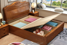 Solid Wood Lift Up Storage Bed