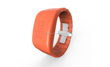 ABS High-grade Explosion - proof LED Orange Watch with Stainless Steel butterfly Shape Clasp