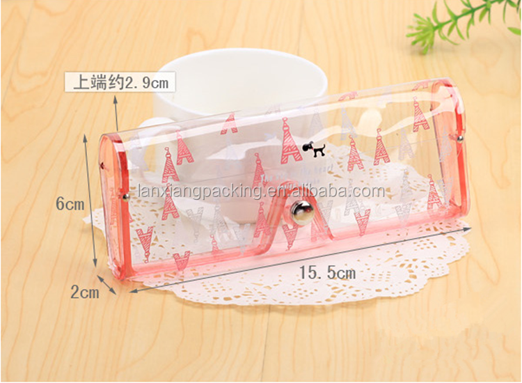Cartoon Clear PVC Pencil Case ,Transparent PVC Box For Pen