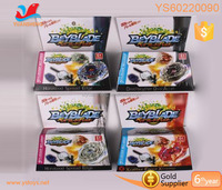 Children diy spinning top package in colour box ejectory and beyblade kids self-chambering plastic beyblade set