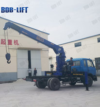 hydraulic telescopic boom truck mounted crane with winches SQ10SA3
