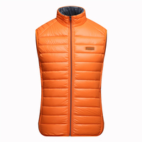 OEM men's reversible lightweight feather waistcoat winter sleeveless quilted down vest