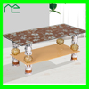 Blocks Glass Coffee Table Furniture Center