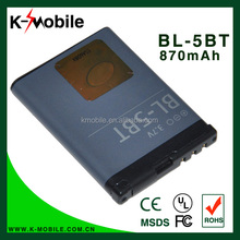 BL-5BT Mobile phone battery for NOKIA 2600c battery N75/2608/7510a/7510s