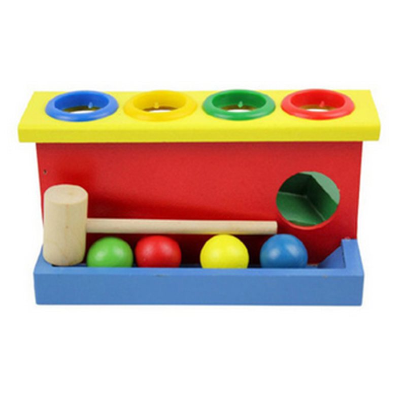 Environmental Safety Colorful Intelligent Wooden Ball Hammer for Kids