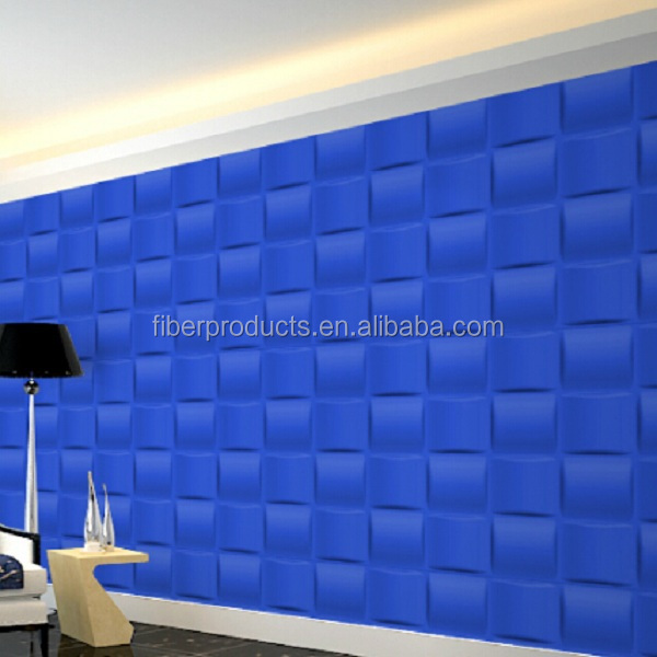 building decorative pattern wall board plant fiber