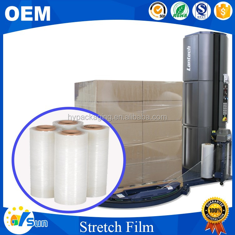 Singapore Hot Sale Machine Packing Use Water-proof Transparent LLDPE Pallet Stretch Wrapping