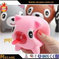 2014 hot toy /animal toy/ pig screaming rubber toy