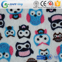 kids design printed fleece blanket fabric