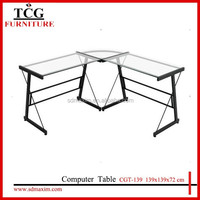 TCG home furniture glass corner combined computer table CGT-139