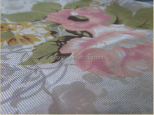 flower design pigment printed knitted mattress for home textile