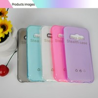 Soft slim silicon phone case , Clear phone case, cell phone case with camera lens for samsung galaxy J1 ACE