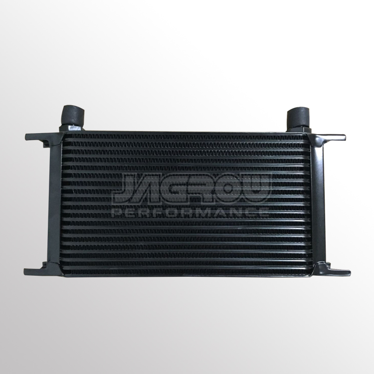 Universal 19 Row AN10 Engine Transmission 248mm Oil Cooler black
