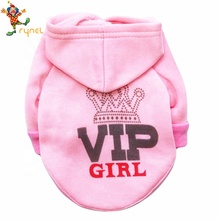 PGPC0599 Wholesales Pink Plain Custom PET Clothes Dog Hoodie Sweater