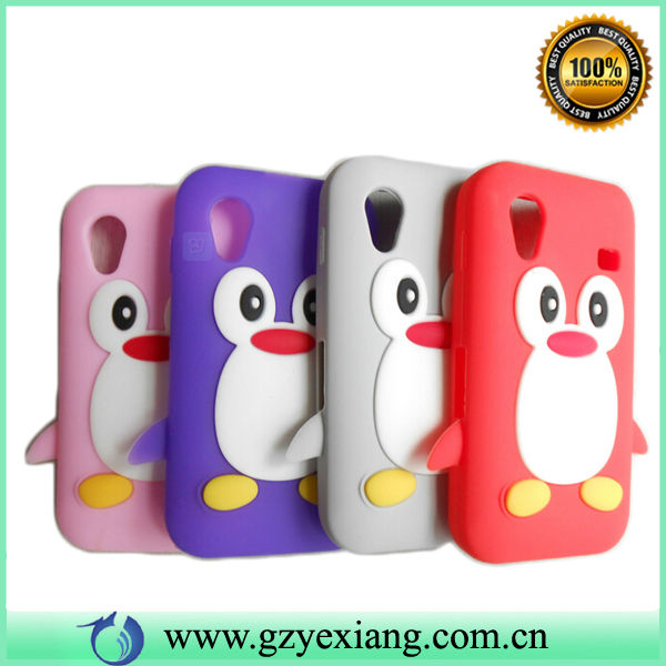 3D Animal Penguin Soft Silicone Case For Samsung galaxy ace s5830