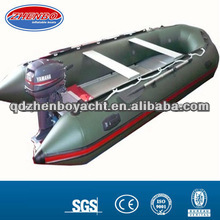 Aluminum floor rubber inflatable boat with YAMAHA outboard engine