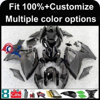 INJECTION MOLDING panels black For Suzuki K6 GSX-R600 GSX-R750 2006 2007 GSXR 600 750 Custom Fairing