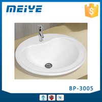 BP-3005 Modern Bathroom Design, Quality Above Counter Mounting Art Basin, Ceramic Hand Wash Sink Bash Bowl, Vanity Top