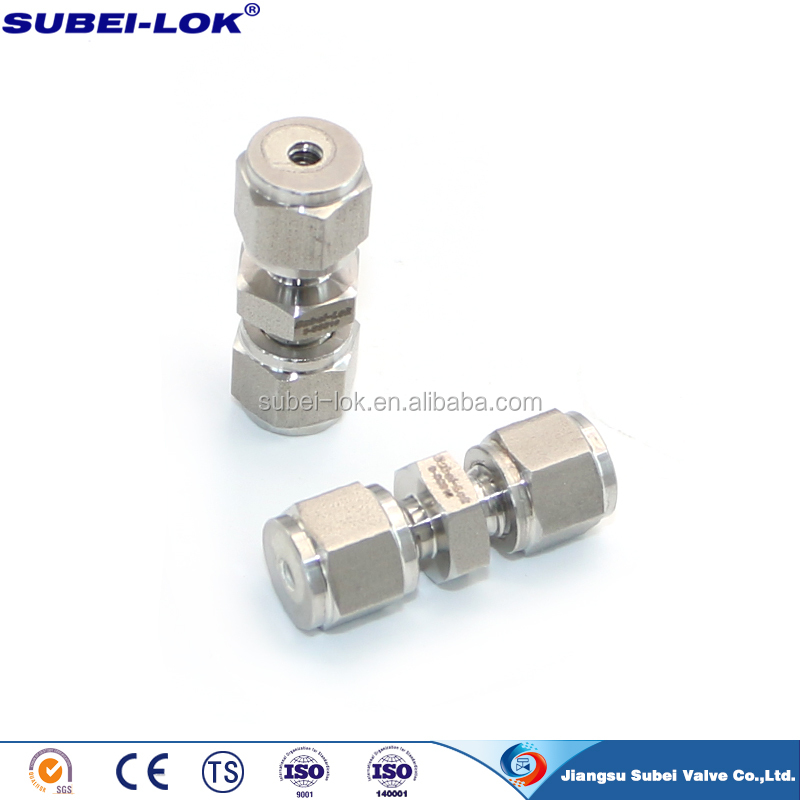 1/8 inch stainless steel male tube connector male adapter instrument tube fitting supplier