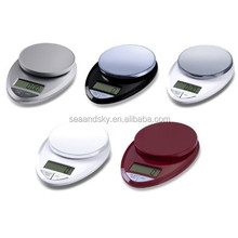 Multifunction Food Scale with 30% Wider Stainless Steel Platform 11lb 5kg Digital Kitchen Scale