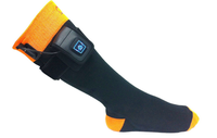 Electric therapeutic heating ski socks
