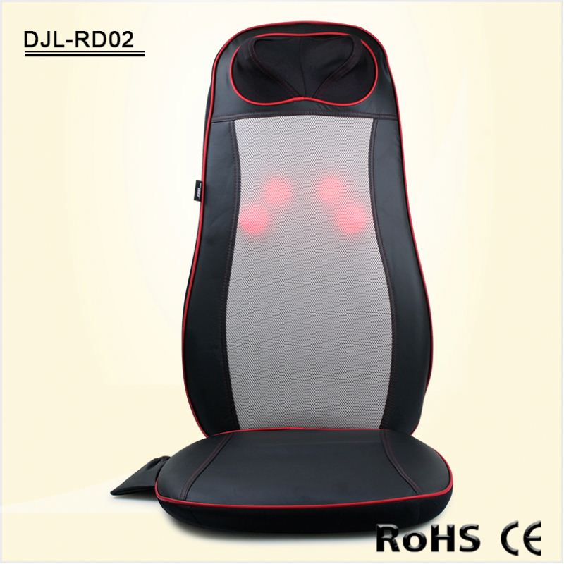 Neck Back Electric Shiatsu Rolling Chair Massage Cushion With Infrared Heat