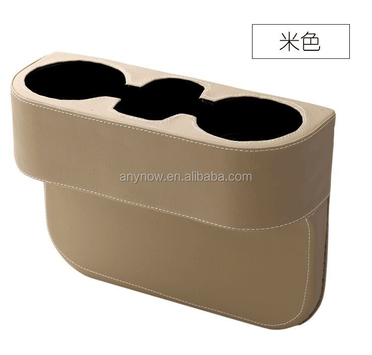 Creative convenient car chair seat side gap slit cup phone holder storage organizer