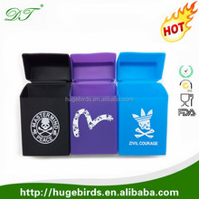 Cheap High Quality Cigarette case/ cigarette box/silicone cigarette pack cover with custom printing