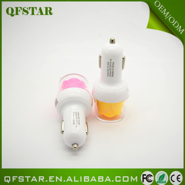 2015 new design Wholesale alibaba new product rose car charger