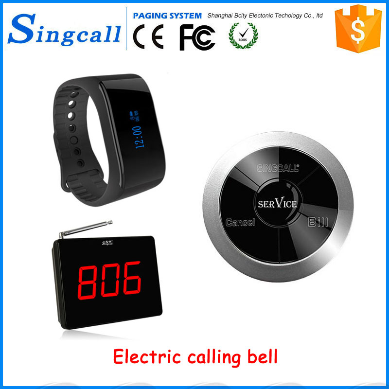 New model wrist watch pager waiter wireless calling system